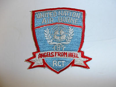 b1203 US Army Korea 187th RCT Patch  Air borne United Nation 11th airborne