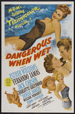 Dangerous when wet Esther Williams 1953 movie poster print #4