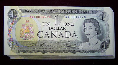 BANK OF CANADA 1973 $1 NOTES  BC-46a-i  NiceAU+ to UNC 10 PCS LOT