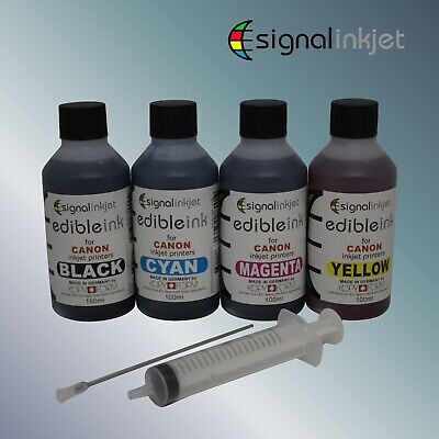 EDIBLE INK REFILL SET FOR CANON PRINTERS - 4 x 100ml