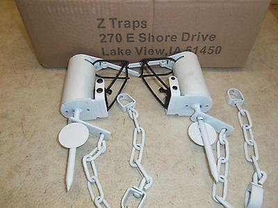4  Camo Z-Trap Dog Proof Push Pull Trigger Traps Trapping
