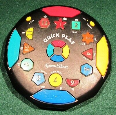 QUICK PLAY Electronic Game...EB Excalibur...Shapes, Sounds, Lots of Ways to Play