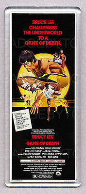 BRUCE LEE GAME OF DEATH movie poster LARGE FRIDGE MAGNET - CLASSIC!
