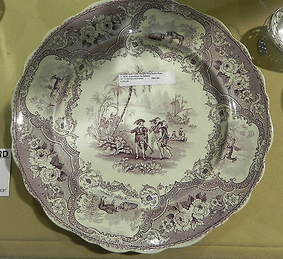 Antique Adams Columbus Plate in Purple Made for American Market c: 1835