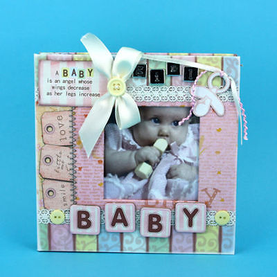 Baby Girl ~ Pretty Pastels ~ Photo Album Scrapbook  Keepsake ~ Baby Gift