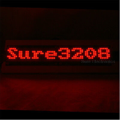 P4 32X8 3208 Red LED Dot Matrix Unit Board LED Information Display Board