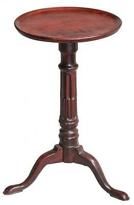 SWC-Dishtop Kettle Stand with Stop-Fluted Column, possibly Newport, c.1770