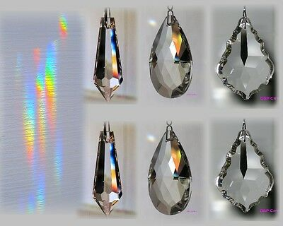 Sun Catcher Hanging Crystals (full lead) Rainbow Prisms Feng Shui Chandelier x6