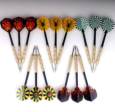 9 pcs (3 sets) Steel Needle Tip Dart Darts With Nice Flight Flights