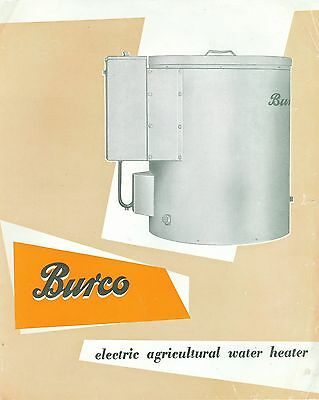 Burco Electric Agricultural Water Heater Sales Leaflet