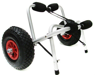 New Kayak Canoe Jon Boat Carrier Dolly Trailer Tote Trolley Transport Cart Wheel