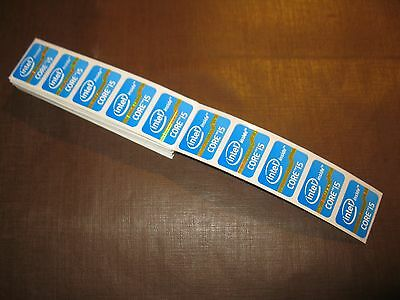 100 pcs Intel Core i5 Inside 15.5mm x 21mm Sticker Label Logo Decal Case Badge