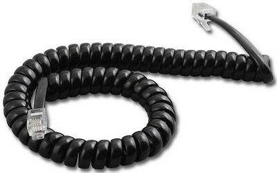 5 Avaya Lucent AT&T 9' Black Telephone Handset Receiver Coil Curly Cords Wires