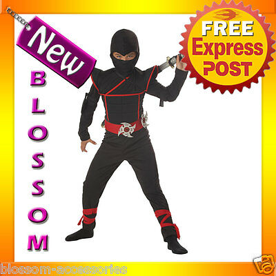 CK26 Stealth Ninja Child Kids Boys Fancy Dress Up Party Halloween Costume