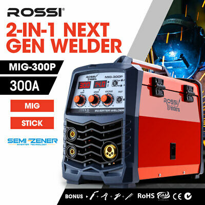 NEW ROSSI 280Amp Welder MIG ARC MAG Gas Gasless DC Welding Machine Inverter Tool