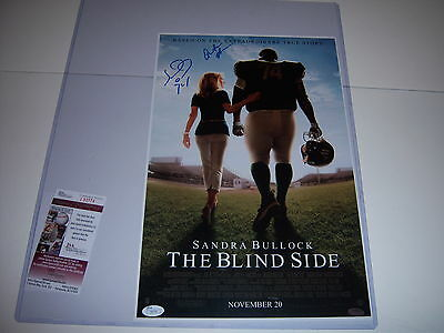 Michael Oher,quinton Aaron,the Blind Side Jsa/coa Signed 11X17 Movie Poster