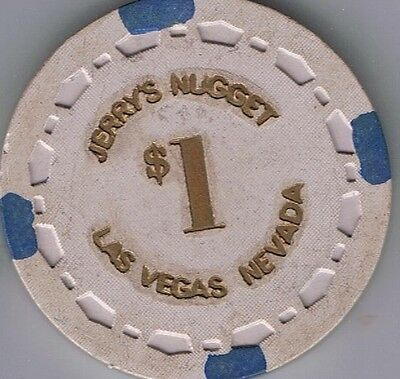 Jerry's Nugget $1.00 Small Crown Mold Casino Chip North Las Vegas Nevada