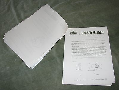 Quantity Of Service Bulletins From Pioneer Chainsaws