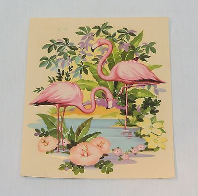 Vintage Pink FLAMINGO Medium 8 inch DECAL Liberty Company Free US Shipping!