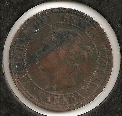 1888 VERY FINE Canadian Large Cent #4 (corrosion)