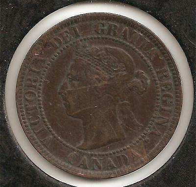 1895 EXTREMELY FINE Canadian Large Cent #2 (scratch)
