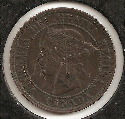 1900 EXTREMELY FINE Canadian Large Cent #1 (scratches)