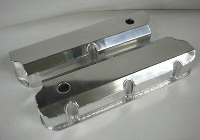 SBF Small Block Ford Fabricated Aluminum Polished Valve Covers 289 302 351w 5.0
