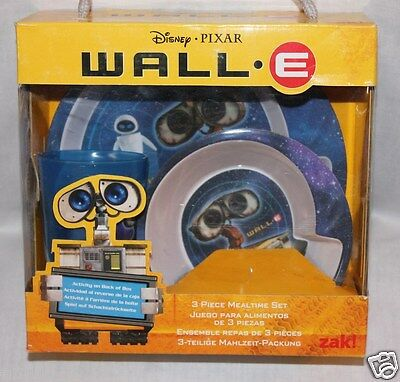 Disney  Pixar Wall E Dinnerware Set Plate, Cup And Bowl