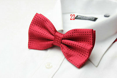 Boys Luxury 2 Layer RED with RED Polka Dot Dickie Bow Tie Adjustable