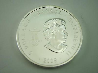 Silver Round Bar 1 oz Troy Ounce .9999 Canadian 2009 Olympic 2010 Commemorative