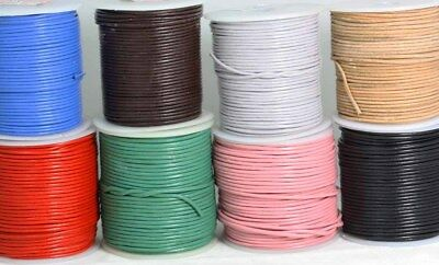 LEATHER CORD Rounded Loose lengths   Mixed colours   1.5mm-2mm Leather thong