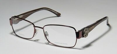 NEW VALENTINO 5731 53-17-130 BROWN SPRING HINGES STRASS STAINLESS STEEL FRAMES !