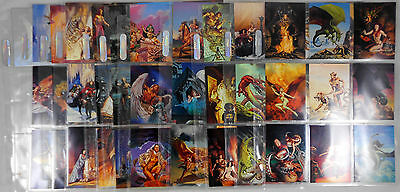 The Best of Rowena Fantasy Art Trading Cards 90 Card Set + 2 Holographic Cards