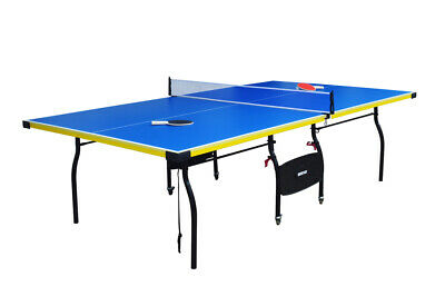 FULL SIZE FOLDING TABLE TENNIS FUN PING PONG GAME ROOM PLAY SET w/ WHEELS