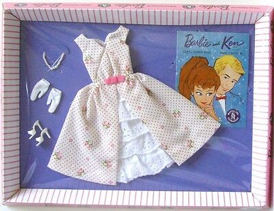 GARDEN PARTY # 931 Outfit 1962 VINTAGE Barbie Repro NRFB - TRADITIONAL PINK BOX
