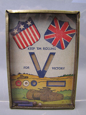 "Vintage WWII ""V For Victory"" Dexterirty Game USA UK"