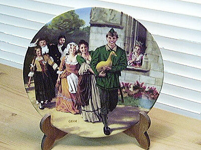 Collector Plate Brothers Grimm GOLDEN GOOSE 1984 Konigszelt Bayern