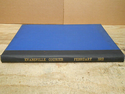 Bound Newspapers Evansville IN FEB 1912 Comics Baseball China Vaudeville Mexico