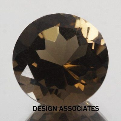 8 Mm Round Smoky Quartz  Aaa All Natural