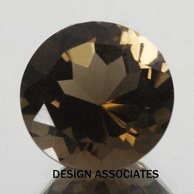14 Mm Round Smoky Quartz  Aaa All Natural