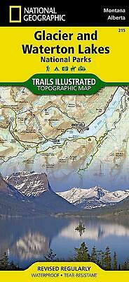 Glacier/waterton Lakes National Parks by National Geographic Maps (English) Fold