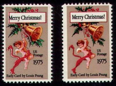 """1580 Color Shift Error / EFO """"Merry Christmas"""" Mint NH"""