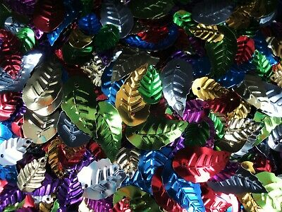 Sequin Leaves Metallic Mix 25g Craft Leaf Christmas Design Project FREE POSTAGE