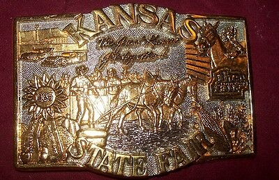Award Design Medals Presents  Kansas State Fair 1985 24K Gold And Silver Plated