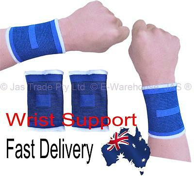 Sports Elastic Wrist Warmer Guard Wrap Brace Arthritis Support Cuffs Protector