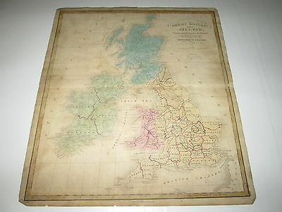 "1835 Joseph C. Hart Map Of ""great Britain & Ireland"",  From 1835 Geography Atlas"