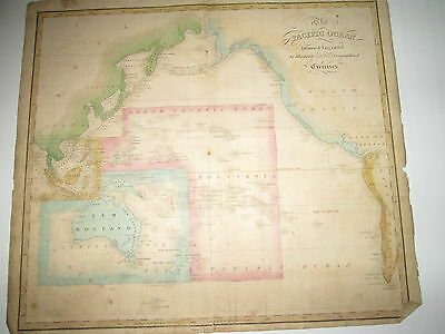 """1835 Joseph C. Hart Map Of """"pacific Ocean"""",  From 1835 Geography Atlas"""