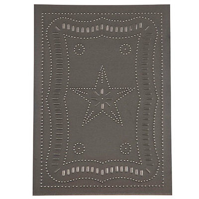 FEDERAL STAR Tin Panel in Blackened Tin