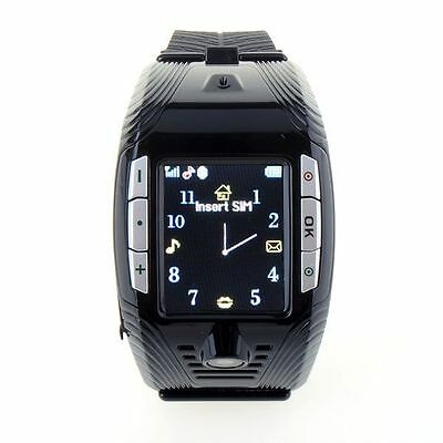 Black F3 GSM Mobile Wrist Watch Cell Phone Camera Bluetooth MP3 Mp4 Player Sport