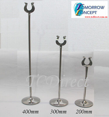 10x Menu Card Table Number Holder Stand for Wedding Restaurant & Cafe 400mm